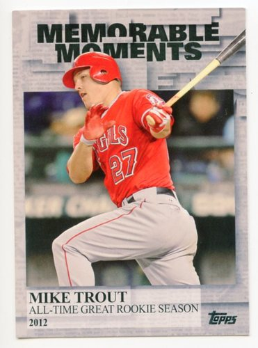 Photo of 2017 Topps Memorable Moments #MM50 Mike Trout