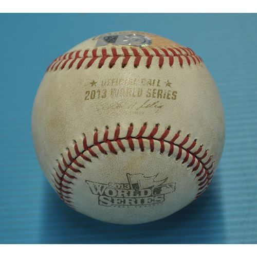 Photo of Game-Used Baseball - 2013 World Series - Boston Red Sox vs. St. Louis Cardinals - Batter - Xander Bogaerts, Pitcher - Adam Wainwright - Bottom 1 -Ball - Game 1 - 10/23/2013