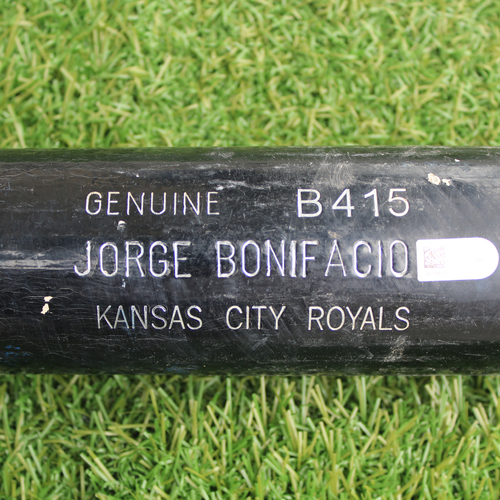 Photo of Game-Used Bat: Jorge Bonifacio