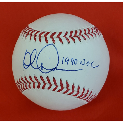 Photo of Rob Dibble Autographed Baseball with Inscription