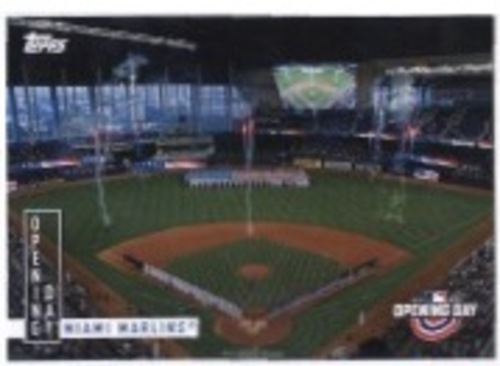 Photo of 2020 Topps Opening Day Opening Day #OD4 Miami Marlins