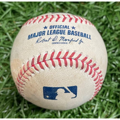 Photo of Spring Training Game-Used Baseball: Ryan Yarbrough strikes out Ronald Acuna - Top 1 - March 28, 2021 v ATL