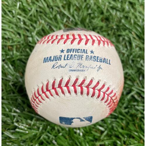 Photo of Game Used Baseball: Brandon Lowe, Wander Franco, Nelson Cruz & Lucas Giolito - Bottom 1 - August 20, 2021 v CWS (See Description for Details)