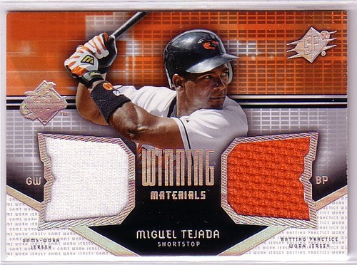 Photo of 2004 SPx Winning Materials Dual Jersey #TE Miguel Tejada