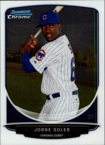 Photo of 2013 Bowman Chrome Draft Top Prospects #TP9 Jorge Soler Pre-Rookie Card