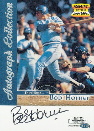 Photo of 1999 Sports Illustrated Greats of the Game Autographs #31 Bob Horner
