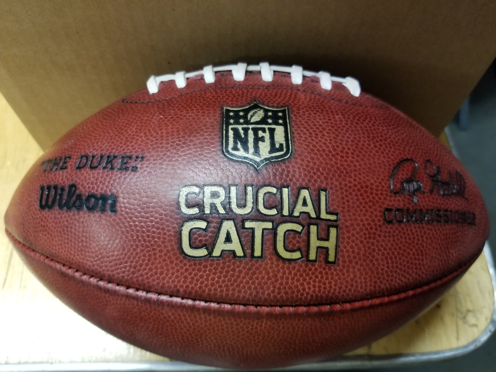 CRUCIAL CATCH - EAGLES AUTHENTIC GAME USED FIRST HALF KICKING BALL (OCTOBER 8, 2017)