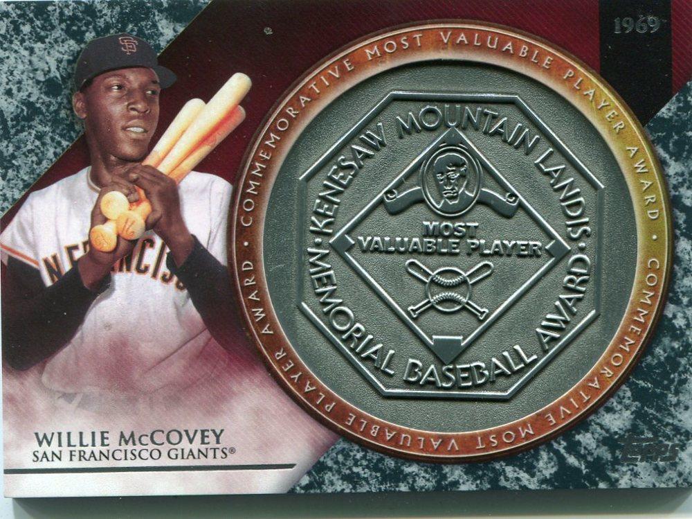 2017 Topps Update MVP Award Relics #MVPRWM Willie McCovey