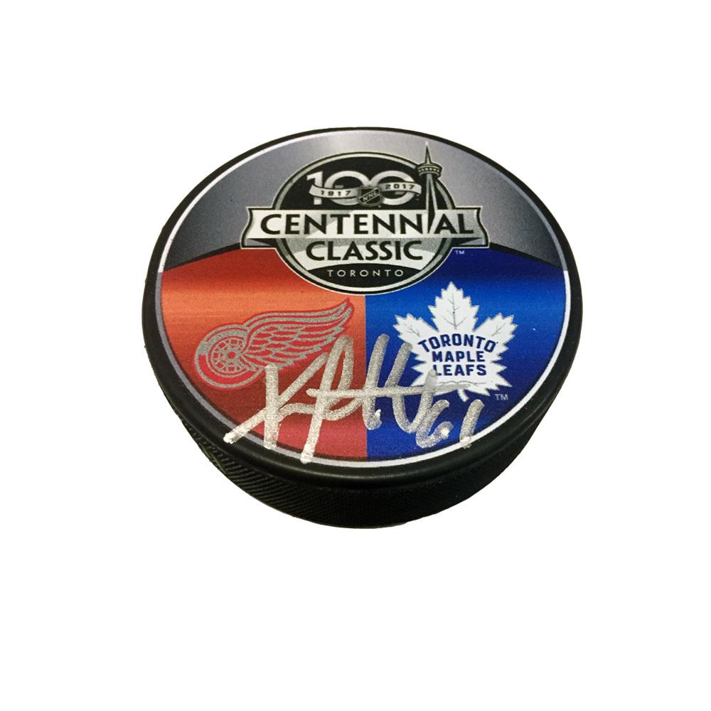 XAVIER OUELLET Signed Centennial Classic Puck