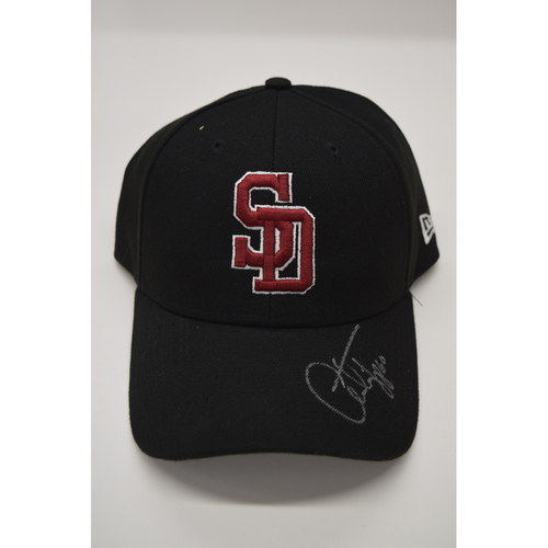 Photo of Andrew Triggs #60 - Signed & Game-Used Marjory Stoneman Douglas High School Hat - CHARITY AUCTION