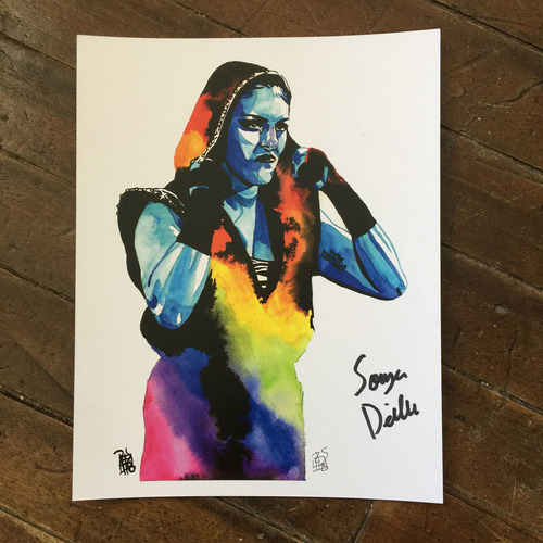 Photo of Sonya Deville SIGNED 11 x 14 Rob Schamberger Print