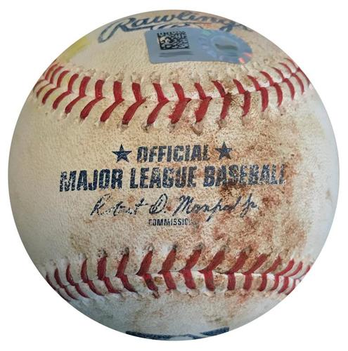 Photo of Game-Used Baseball from Pirates vs. Cubs on 7/31/18 - Polanco Single, Freese RBI Double