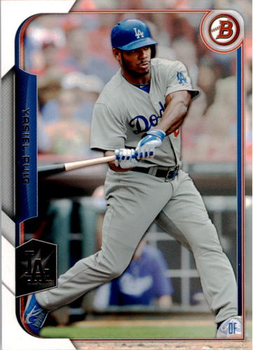 Photo of 2015 Bowman #25 Yasiel Puig