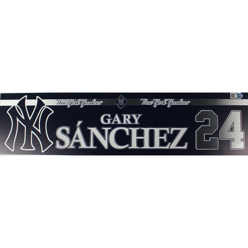 Photo of Gary Sanchez New York Yankees 2018 Game Used #24 Locker Room Nameplate (5/13/2018)