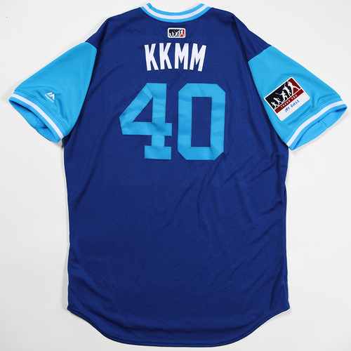 "Photo of Pete ""KKMM"" Walker Toronto Blue Jays Team Issued Jersey 2018 Players' Weekend Jersey"