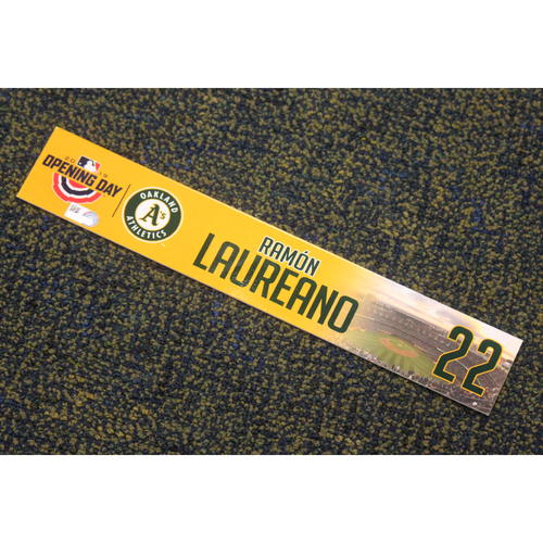 Photo of Team Issued 2019 Opening Day Locker Nameplate - Ramon Laureano
