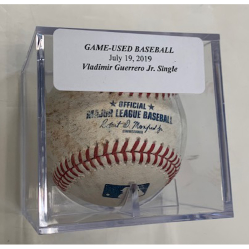 Photo of Game-Used Baseball: Vladimir Guerrero Jr. Single