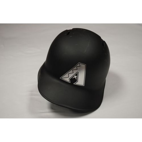 "Photo of Jarrod ""ZOOMBIYA"" Dyson Arizona Diamondbacks Game-Used 2019 Players' Weekend Helmet"