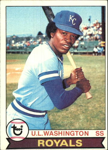 Photo of 1979 Topps #157 U.L. Washington UER/(Sic, bats left,/should be right)