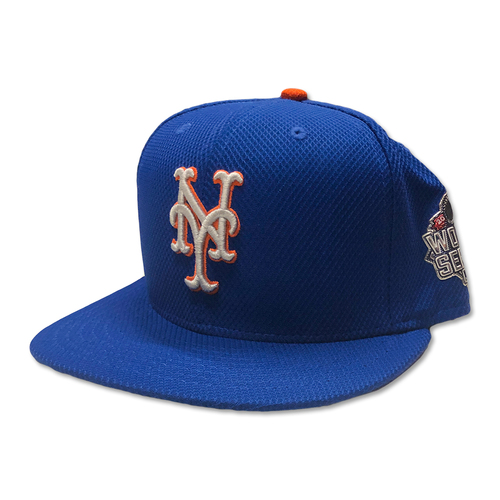 Photo of Tom Goodwin #26 - Game Used Blue Alt. Road Hat - Mets vs. Royals - World Series Game 1 - 10/27/15