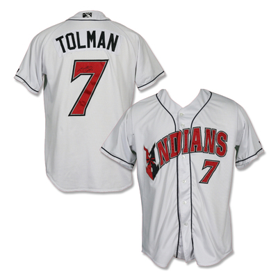 #7 Mitchell Tolman Autographed Game Worn Home White Jersey