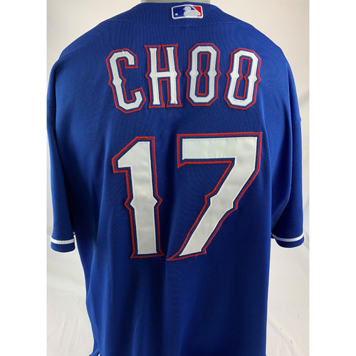 Photo of Game-Used Blue Jersey - Shin-Soo Choo - 9/6/2019 - Rangers at Orioles