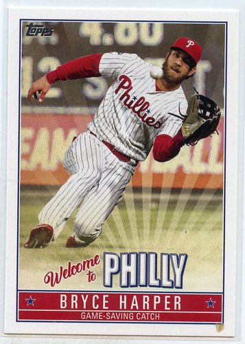 Photo of 2019 Topps Update Bryce Harper Welcome to Philly #BH18 Bryce Harper