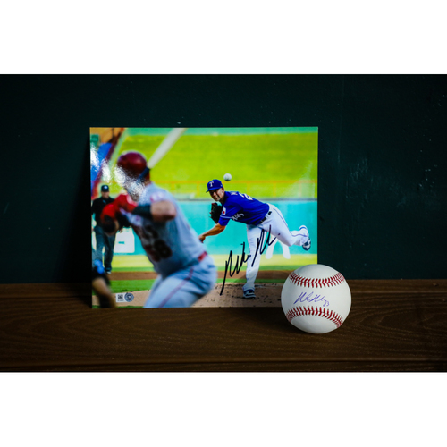 Photo of Mike Minor Autographed Baseball and 8x10 Photo