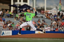Photo of Hillsboro Hops Game Worn Jersey - Lime