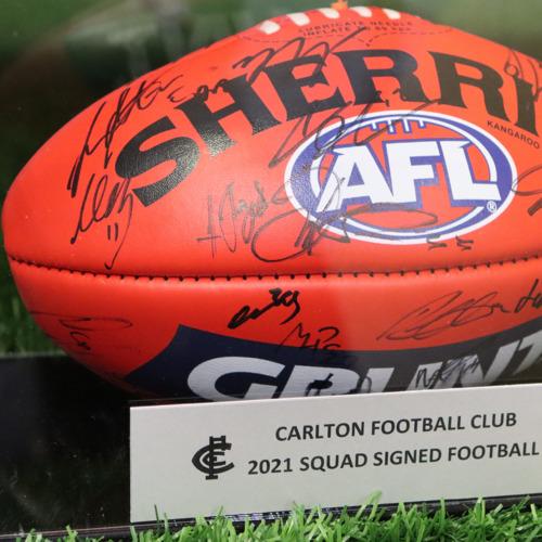 Photo of 2021 AFL Team Signed Football Lot #3