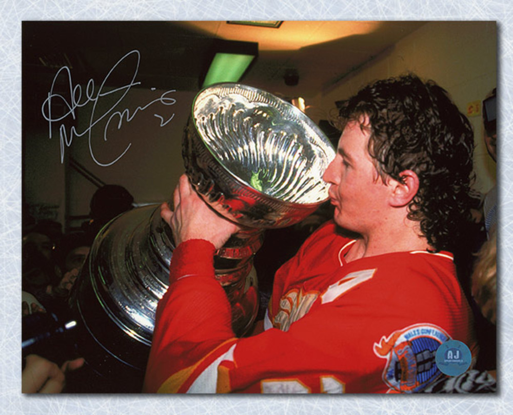 Al MacInnis Calgary Flames Autographed 1989 Stanley Cup 8x10 Photo