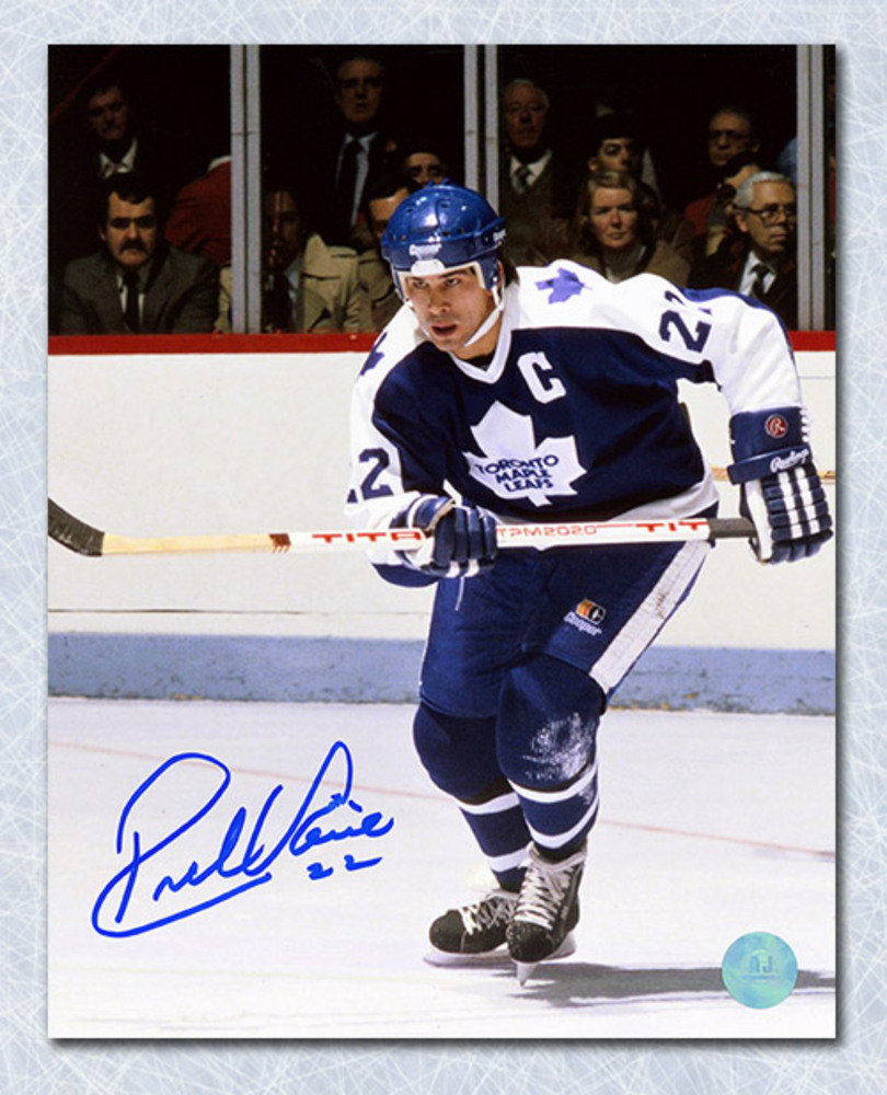 Rick Vaive Toronto Maple Leafs Autographed Captain 8x10 Photo