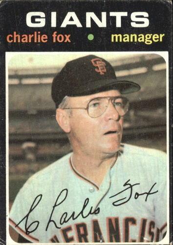 Photo of 1971 Topps #517 Charlie Fox MG RC