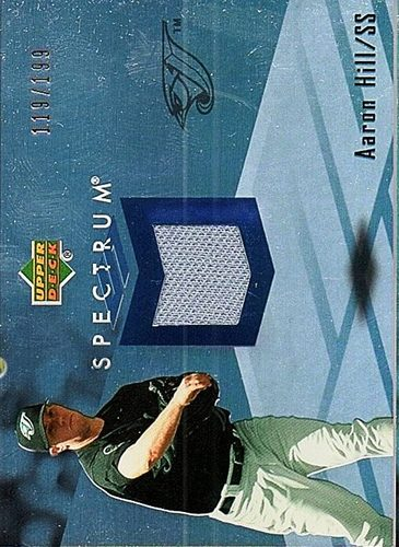 Photo of 2007 Upper Deck Spectrum Swatches #AH Aaron Hill Jersey /199