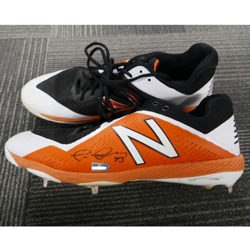 Photo of San Francisco Giants - Game-Used Autographed Cleats - Tim Federowicz (pair) - Size 12.5