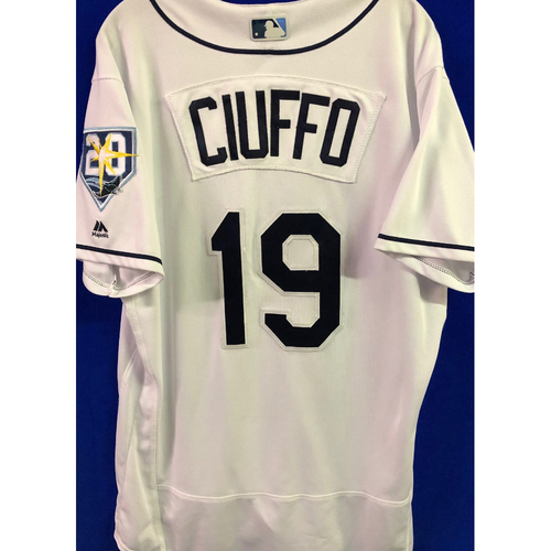 Photo of 20th Anniversary Game-Used Home Jersey: Nick Ciuffo - September 24-28, 2018 v NYY & TOR