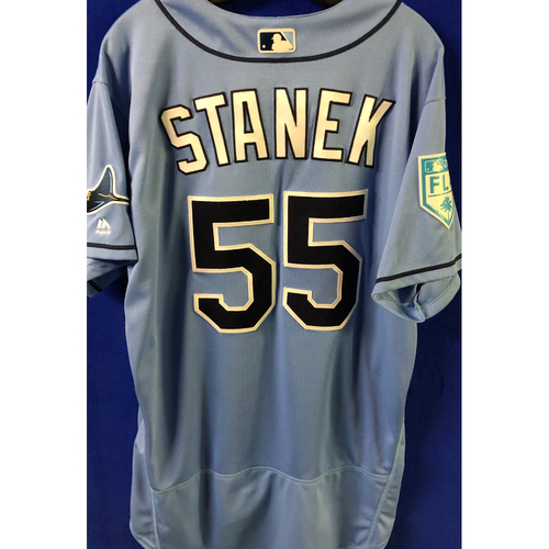 Photo of Game Used Spring Training Jersey: Ryne Stanek - March 26, 2019 v DET