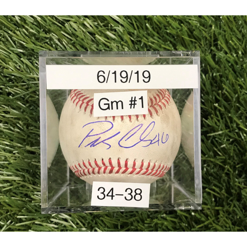 Photo of Win #34: 6/19/2019 Game 1 Game-Used Baseball - Autographed by Patrick Corbin