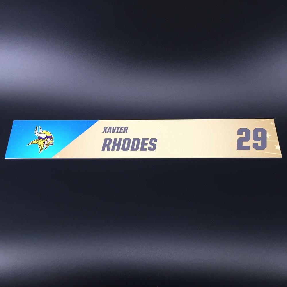 NFL - Vikings Xavier Rhodes Pro Bowl 2020 Locker Room Name Plate