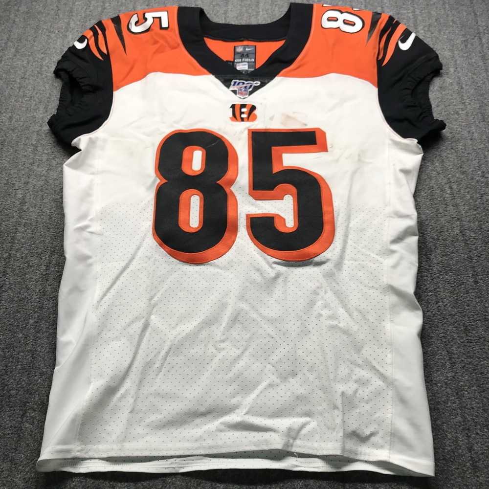 Crucial Catch - Bengals Tyler Eifert Game Used Jersey (10/13/19) Size 44