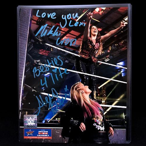 Photo of Alexa Bliss and Nikki Cross SIGNED SummerSlam Edition 8x10 Photo (#1 of 33)