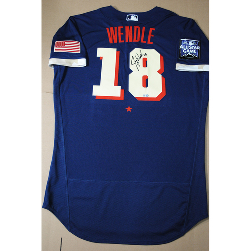 Photo of Joey Wendle 2021 Major League Baseball All-Star Game Autographed Jersey