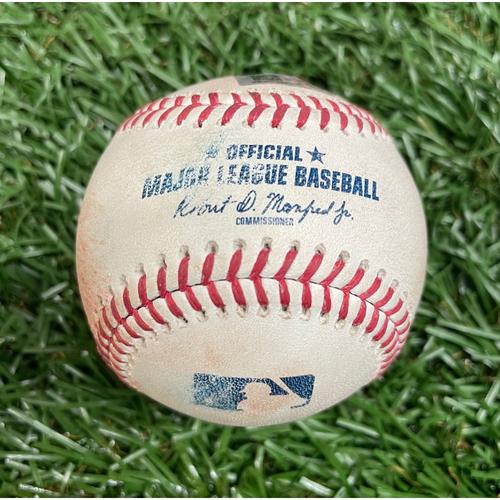 Photo of Game Used Baseball: Craig Kimbrel strikes out Mike Zunino - Bottom 8 - August 20, 2021 v CWS