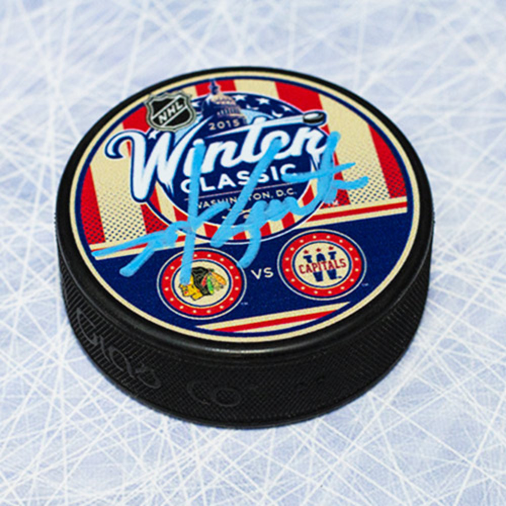 Mike Gartner Washington Capitals Autographed 2015 Winter Classic Puck