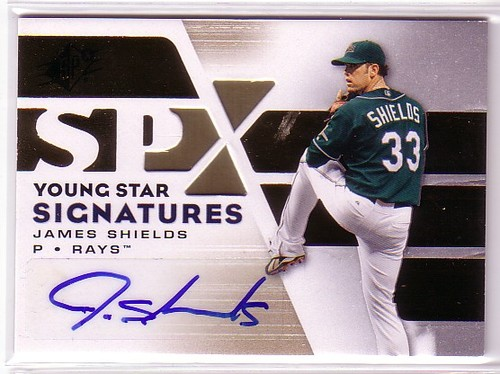 Photo of 2008 SPx Young Star Signatures #SH James Shields