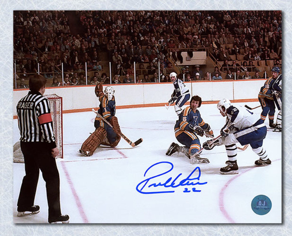 Rick Vaive Toronto Maple Leafs Autographed First Franchise 50 Goal 8x10 Photo