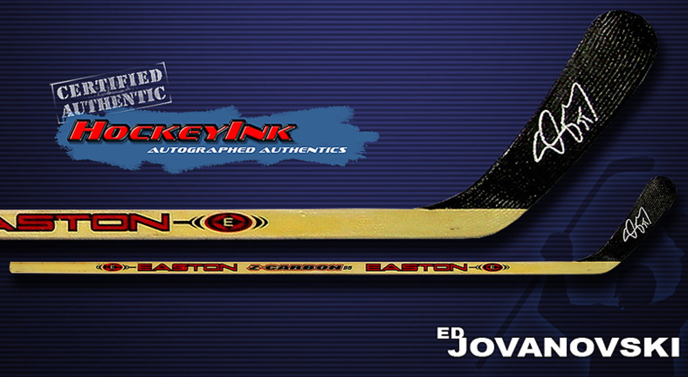 ED JOVANOVSKI Signed Hockey Stick