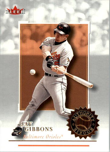 Photo of 2001 Fleer Authority #117 Jay Gibbons RC