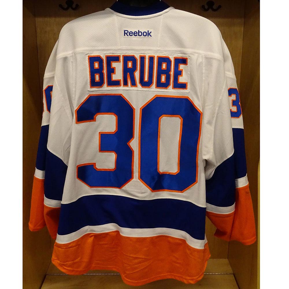 size 40 f20a9 69842 Jean-Francois Berube - Game Worn Away Jersey - 2016-17 ...