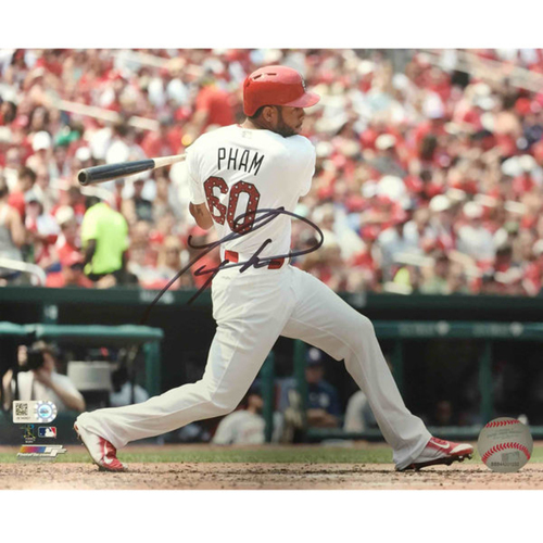 Cardinals Authentics: Tommy Pham Autographed Batting Photo
